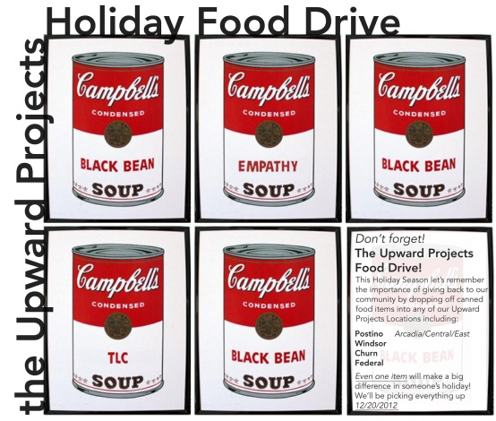 Upward Holiday Food Drive! 12/20